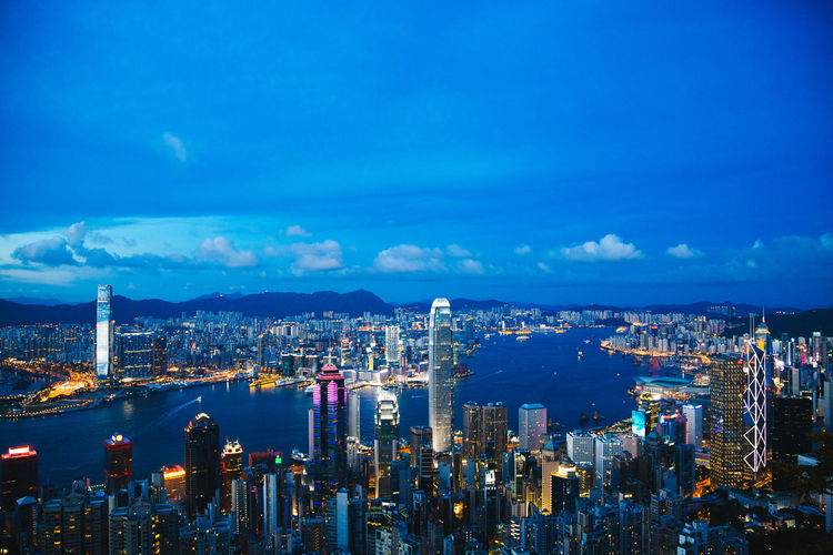 Architecture ASIA Blue Hour Blue Hour Cityscape Buildings China City Evening HongKong Journey Skyline Skyscraper Sunset Travel Travel Destinations Traveling