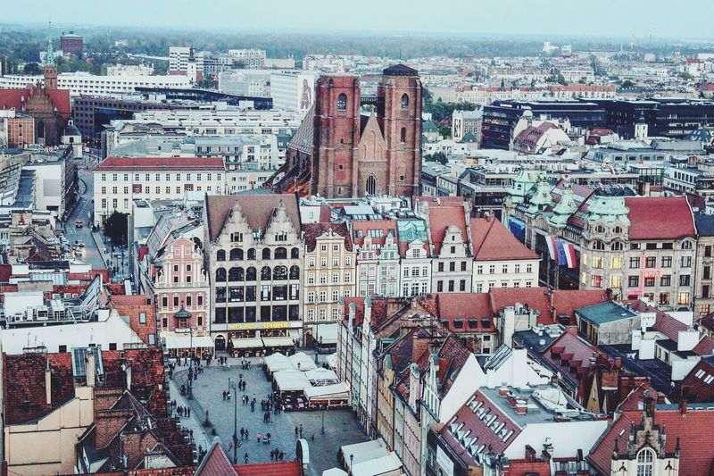 Wrocław. Wroclaw Wroclove View Cityscapes Cityscape Photography Panorama Poland Tower Architecture ARCHITECT Building Street Visitwroclaw Weekend Urban Landscape Urbanphotography Urban Communication Full Frame Day Outdoors No People Cityscape Backgrounds Architecture