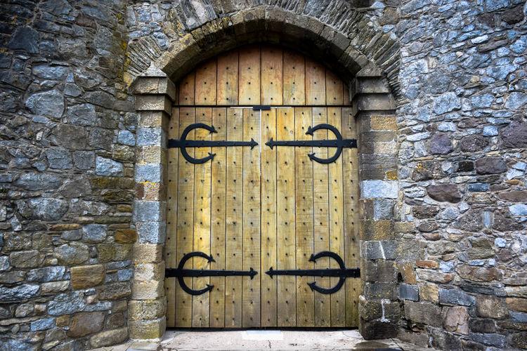 Architecture Castle Door Door Huge Door Stone Wall Stones Stonework Wooden Door