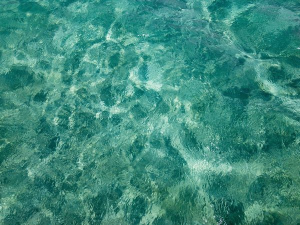 Clear blue sea Sea Water Nature No People Textured  Backgrounds Day Outdoors Close-up IPhoneography Clear Water Hawaii Island Paradise Tropical Vacations Wave Beauty In Nature Blue Ocean Sand