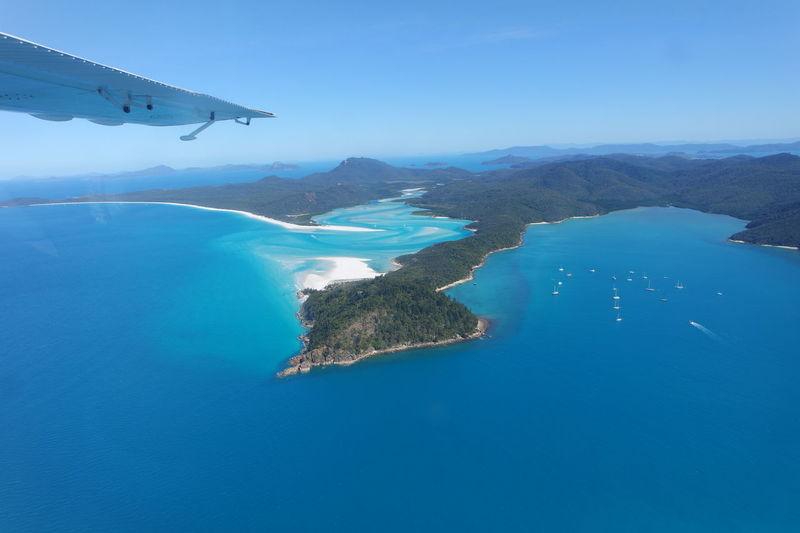 Australia Whitsundays Airplane Blueandwhite Clear Sky Nature Outdoors Scenics Sea Tranquility