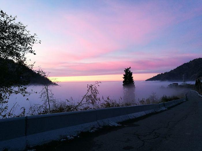 Almatymountains Beauty In Nature Almaty1love Sunset