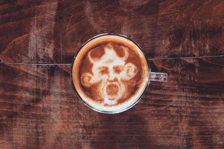 Coffeekesh-My work Coffeekesh Dadbeh Konjcafe Cafe Coffee Coffeelatte Latte Latteart Art ArtWork Portrait Sketch Painting Espresso