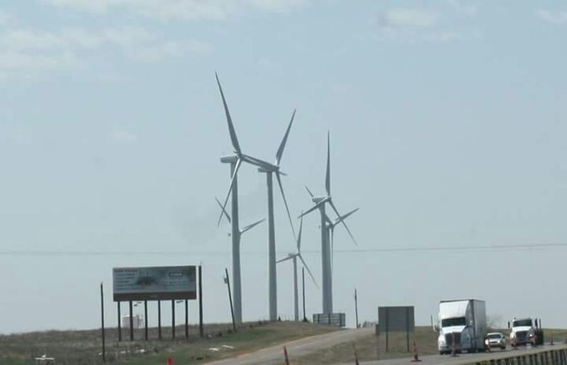 Wind turbines. West Texas Wind Turbines Wind Power West Texas Conservation Natural Power Generate Power