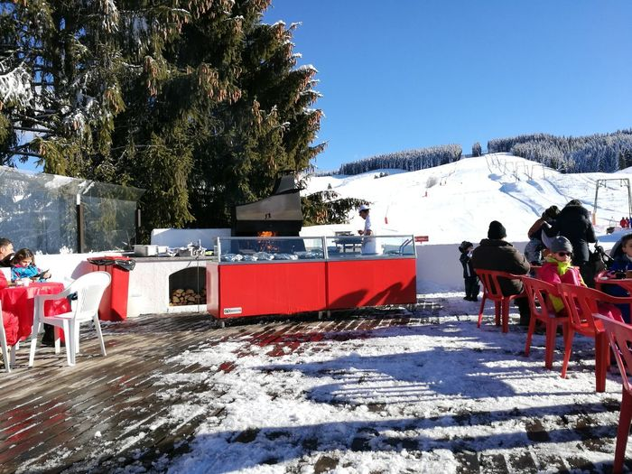 Open air bar Shades Of Winter Snow Winter Cold Temperature Mountain Outdoors Tree Nature Snowcapped Mountain