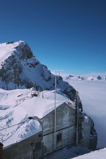 Above the fog. Karwendel Karwendelhaus Beauty In Nature Blue Cold Cold Temperature Day Fog Frozen Ice Landscape Mountain Mountain Range Nature No People Outdoors Scenics Sky Snow Snowcapped Mountain Tranquil Scene Tranquility Weather White Color Winter