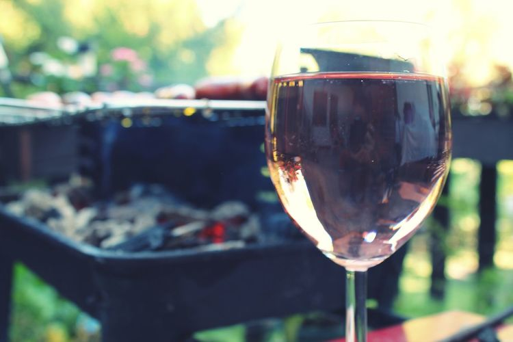 A glass of rose