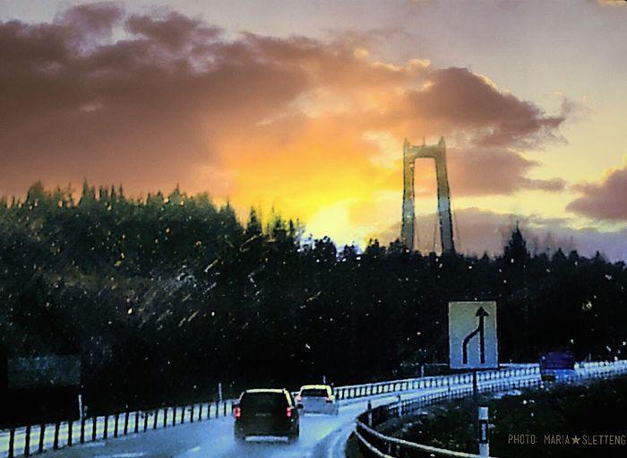 Högakusten bridge Sweden Bridge Hello World Driving Sun Cars Högakusten Högakustenbron Eyeemmarket