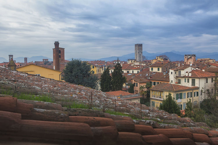 Amazing View Of Lucca at sunset - Italy, Europe Cityscape Famous Holiday Houses Lucca Lucca Italy Panorama Travel Architecture Building Exterior City Cloud - Sky Europe History History Architecture House Italian Italy Landmark Old Roof Tile Tourism TOWNSCAPE Travel Destinations Travel Destinations Outdoors