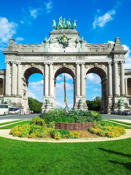 City Travel Destinations Architecture Triumphal Arch Tourism Brussels Brussels Belgium Belgium Travelling Vacations Travel Arc De Triumf Parc Du Cinquantenaire