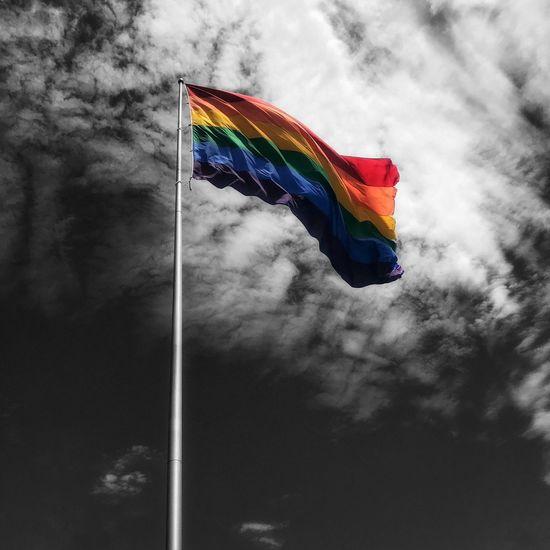 Castro. Flag Multi Colored Pride Cloud - Sky Lgbt Lgbt Pride San Francisco Castro