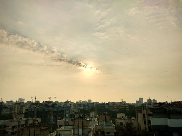 Pastel Power Sun Is Getting Cut By The Clouds Moto G3 HDR
