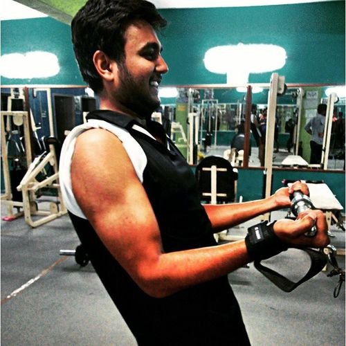 Gym Bicep Day Feelingtierd Happy Got Effects Inprocess Completed 3months