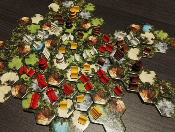 High Angle View Abundance Indoors  Table Large Group Of Objects No People Close-up Day Board Game Taluva
