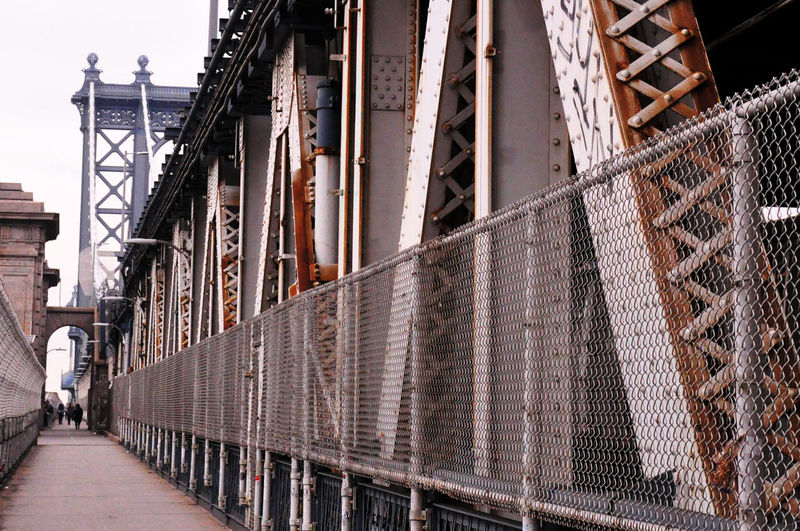 Walkway on bridge