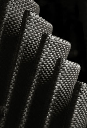 Textured  Abstract Black Background Close-up Day Indoors  No People Pattern Stacked Chairs