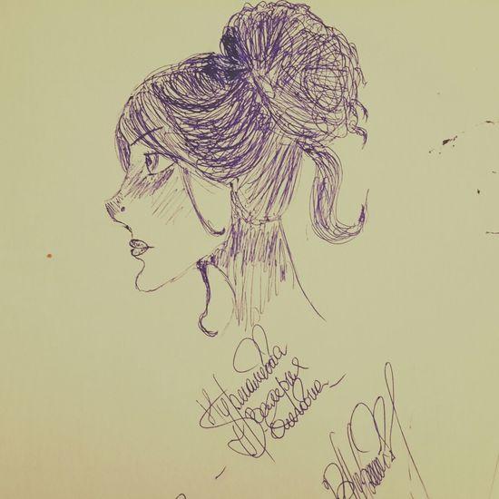 рисунок мойрисунок ручка девушка