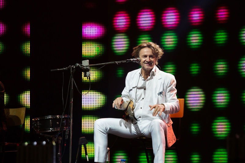 Goran Bregovic Guca Trumpet Festival Serbia Adult Adults Only Day Front View Guca Indoors  Koncert Looking At Camera Microphone Mid Adult Music One Person People Press Photography Reportage Smiling
