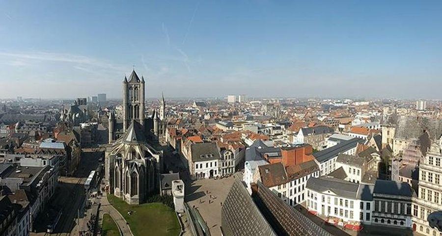 Lovely view from the Belfort Ghent Belgium Belfort