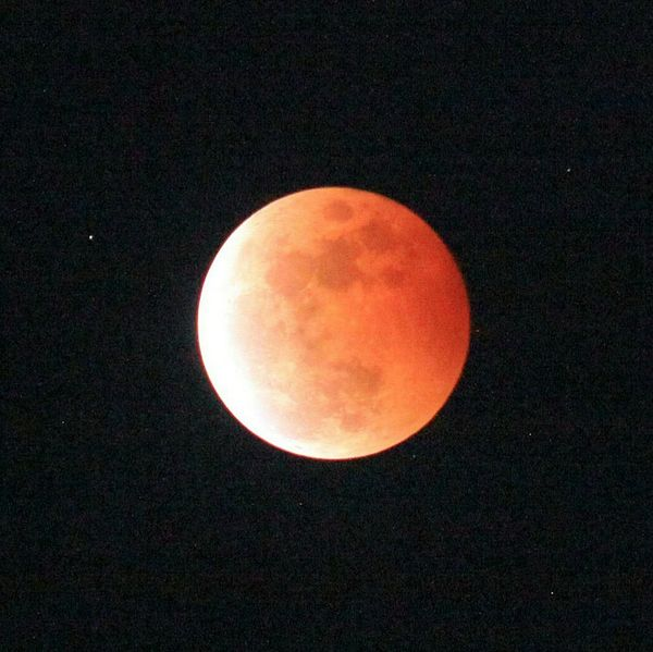 Red Moon in Gorontalo, Oct 8, 2014 Nature Redmoon Lunar Eclipse Nightsky