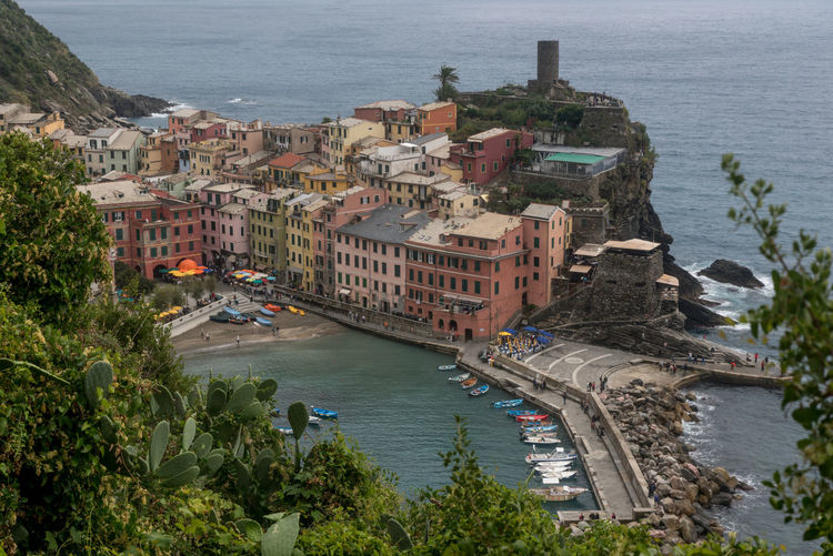 View of Vernazza, one of the villages of the Cinque Terre, Italy Architecture Architecture Bridge - Man Made Structure Building Exterior Cinque Terre Cinque Terre Liguria City Cityscape Coastline Day High Angle View Italy Italy❤️ Nautical Vessel Outdoors People Sea Travel Travel Destinations Vernazza Water