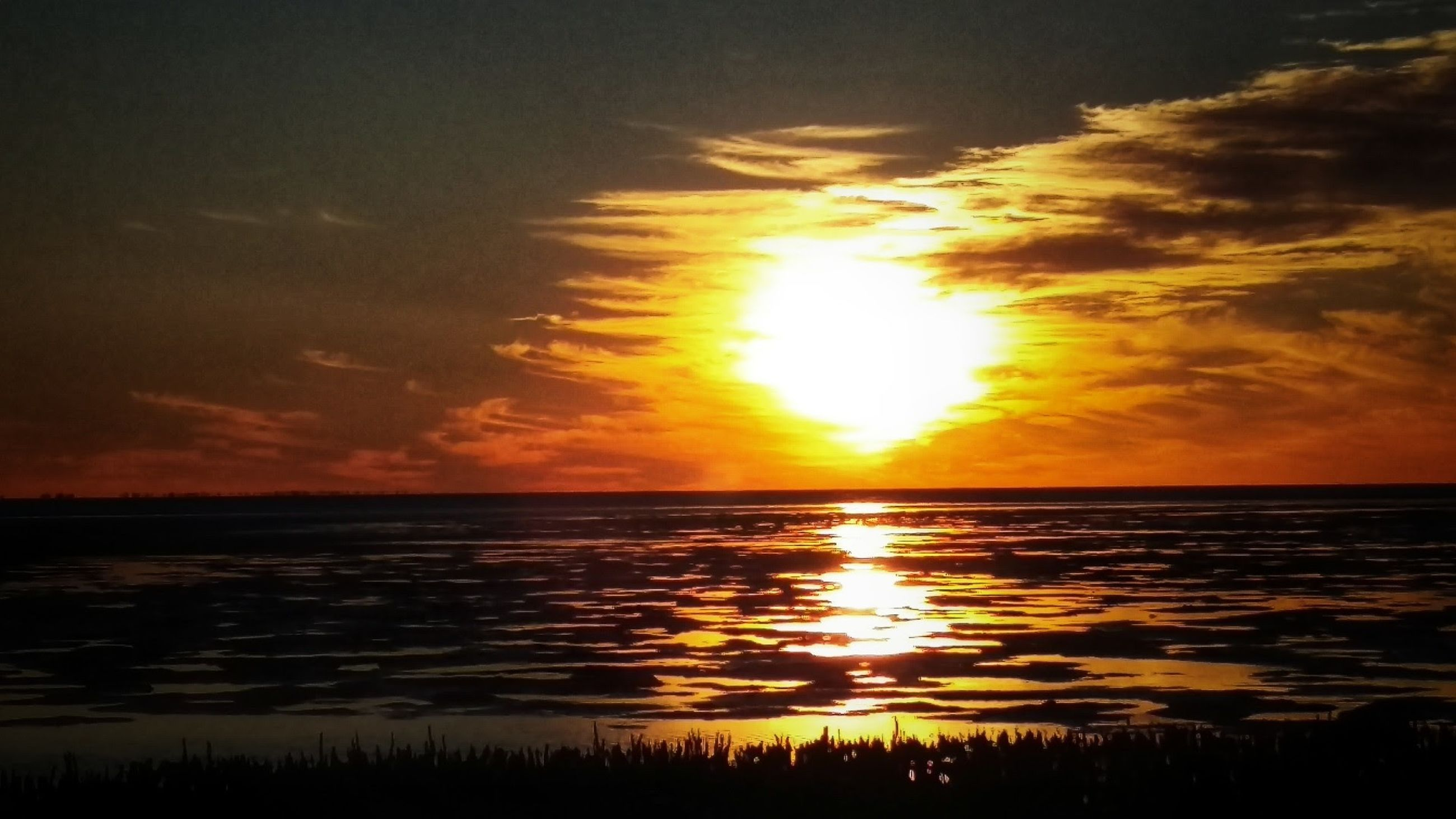 sky, sunset, water, scenics - nature, cloud - sky, beauty in nature, sea, tranquil scene, tranquility, horizon, horizon over water, sun, nature, idyllic, orange color, sunlight, beach, no people, land, outdoors