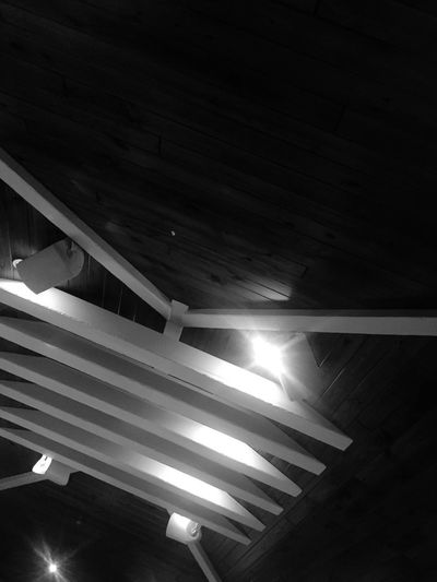 high ceilings Linework B&w Low Angle View Indoors  Illuminated No People Day Close-up