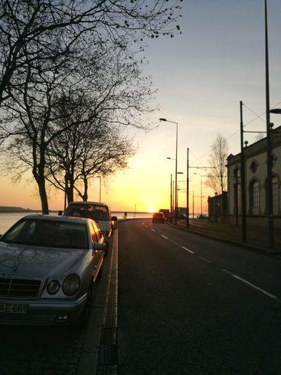Porto Portugal Porto Porto Car Sunset Transportation No People Cloud - Sky Sky Tree Day