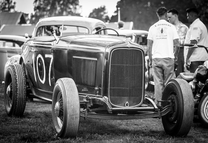 Picture taken at A-Bombers Old Style Weekend in Backamo Sweden. 1932 1932ford Abombers Backamo Blackandwhite Canon5dmarkiii Canonphotography Car Ford HotRod Old Car OldStyleWeekend RatRod Vintage