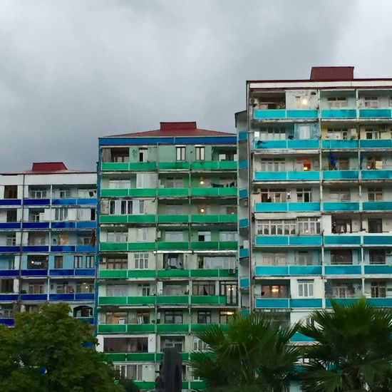 Apartment Apartment Buildings Apartments Architecture Batumi Building Exterior Built Structure City Cloud - Sky Day Growth Low Angle View No People Outdoors Residential Building Sky Towers Tree