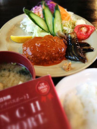 日替わりランチ(今日はハンバーグ)。ランパスで700円→500円♪ IPhoneography Foods Lunch Passport