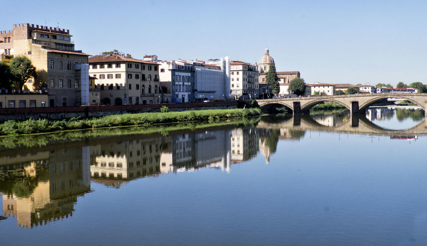 View of the River Arno, Florence Architecture Clear Sky Florence Italy Italy Outdoors Reflection River River Arno Riverside Waterfront
