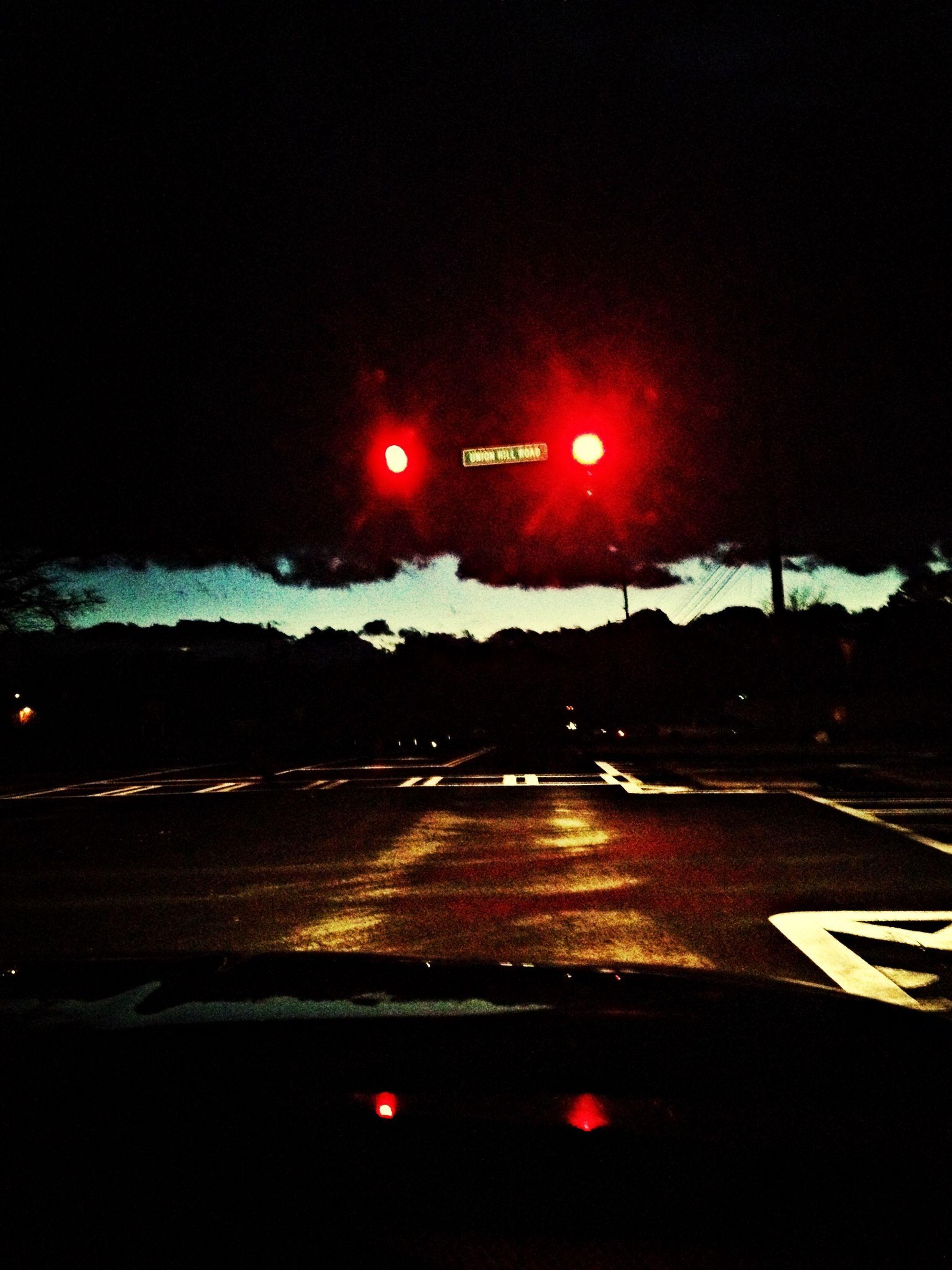 illuminated, transportation, night, red, sky, sunset, road, car, street, sun, lens flare, street light, mode of transport, road sign, no people, outdoors, land vehicle, scenics, dusk, lighting equipment