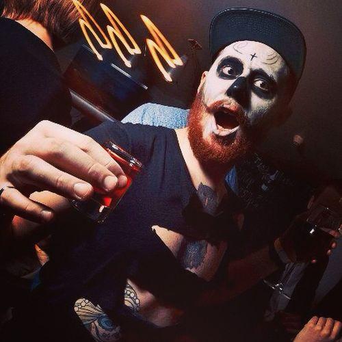 My last photo on the phone. Took from @allochka9308 Hmyroeytro Lifeforfun Look Death Die Alcohol Me Mexico Moscow Fun Friends Night Party White Black Holydeath Helloween Smile Style Swag Vktb Tattoo @inked_vandals Rusboroda Msk Rusborodist beard