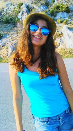 Summertime That's Me Ftw (: Smile Clubmaster Blue Monemvasia Mysummerlove❤️