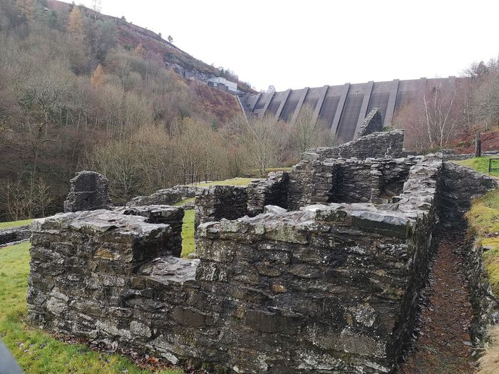 Dam buster...... Olde meets new.. Bryntail Lead Mine Llanidloes Welsh Welsh Hills Welsh History Dam Hello Darkness My Old Friend Times Gone By Ruins Old-fashioned P20 Pro Tree Irrigation Equipment Sky Rocky Mountains