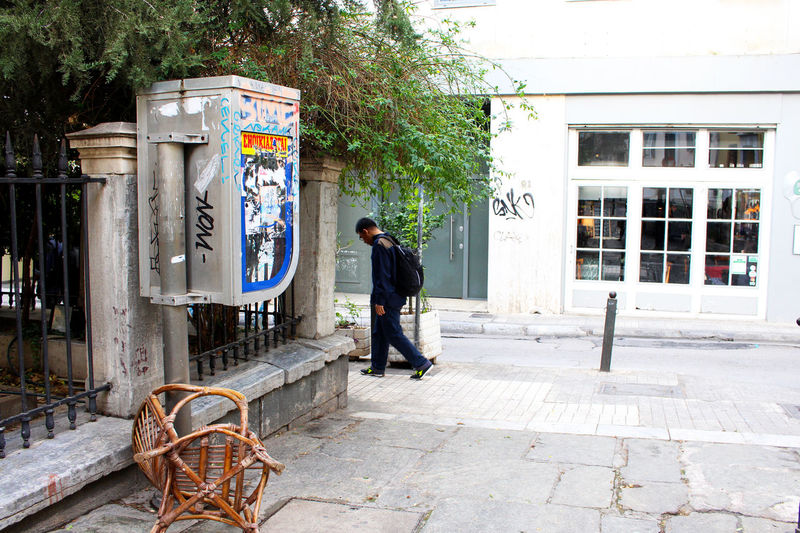 Athens Chairswithstories City City Life Day Graffiti Phone Phone Booth Phonebooth Plaka Street Scene Streetphotography Strideby