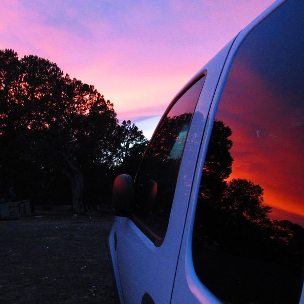 Sunset Sky Transportation Tree Outdoors Ford Truck Sunsetreflections Newmexicophotography Newmexicoskies NewMexicoTRUE Newmexicosunsets