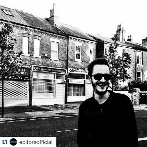 Repost @editorsofficial ・・・ 10 years on but Moseley knows the score Editors TheBackroom