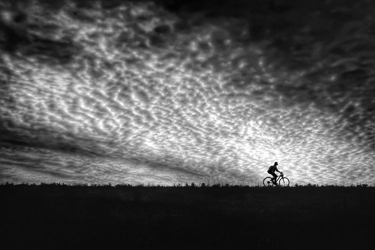 April Sky and Winds. Blackandwhite Monochrome Nature Relaxing Enjoying Life Light And Shadow