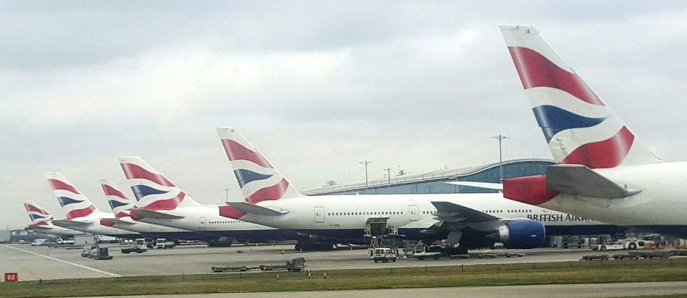 Heathrow Airport London Sky And Clouds British Airways