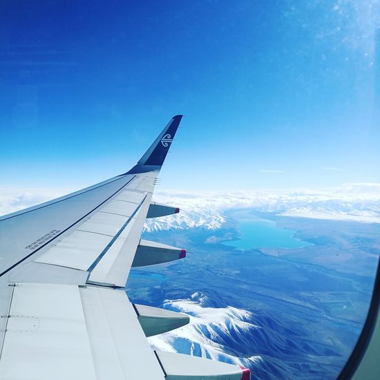 Flying high over New Zealand Outdoors Airplane Airnewzealand Snowcapped Mountain