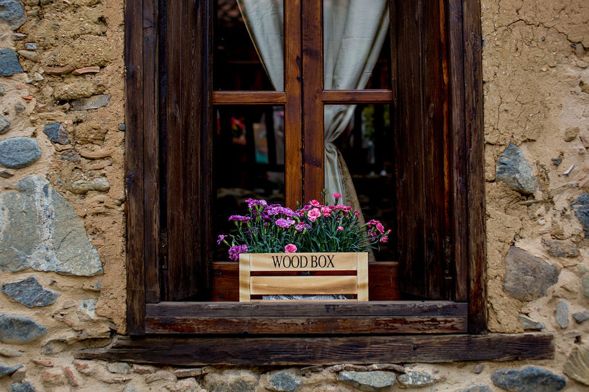 Cyprus Architecture Beauty In Nature Building Exterior Built Structure Close-up Day Flower Flower Head Fragility Freshness Kakopetria Nature No People Outdoors Plant Village Window Window Box Wood - Material