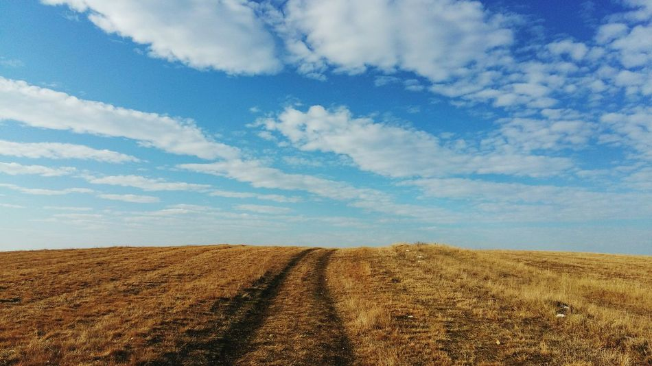Cloud - Sky Sky Outdoors Fields And Sky Tracks Tracks To Nowhere Daytime First Eyeem Photo