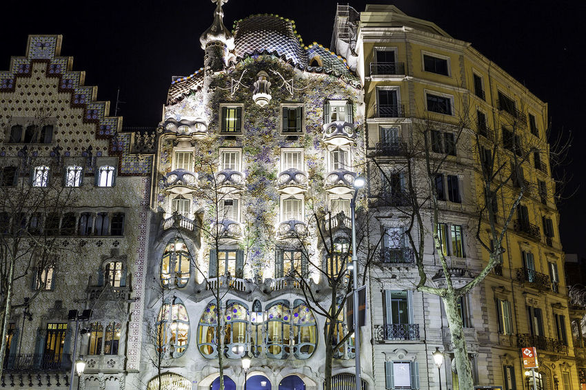 Casa Batillo Architecture Building Exterior Built Structure City Illuminated Low Angle View Night No People Outdoors