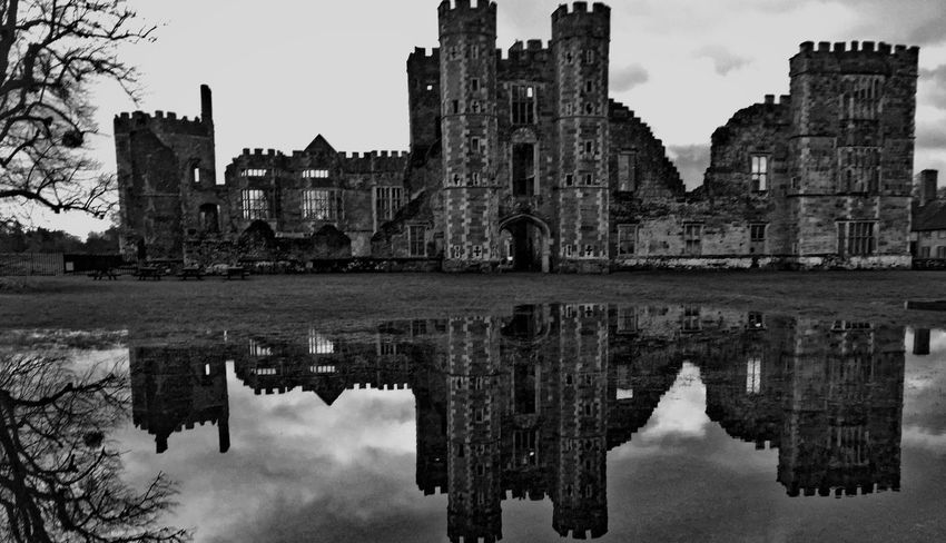 Architecture Building Exterior Built Structure Cowdray Cultures Day History Nature No People Outdoors Reflection Sky Standing Water Travel Destinations Water