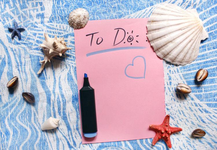 To do list, summertime