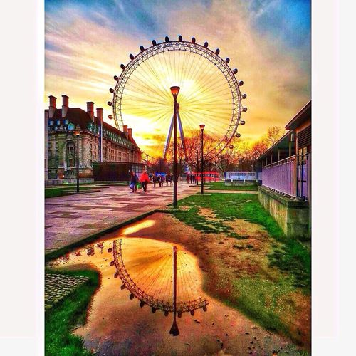 The Illusionist - 2014 EyeEm Awards A funky sunset at the London Eye.