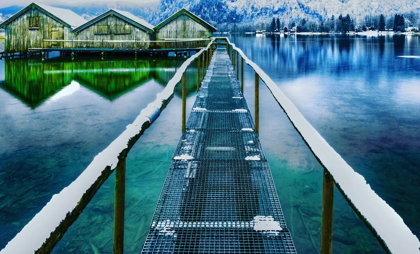 Pier over lake