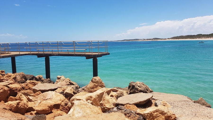 EyeEm Selects Water Sea Beach Blue Summer Sunlight Clear Sky Sky Horizon Over Water